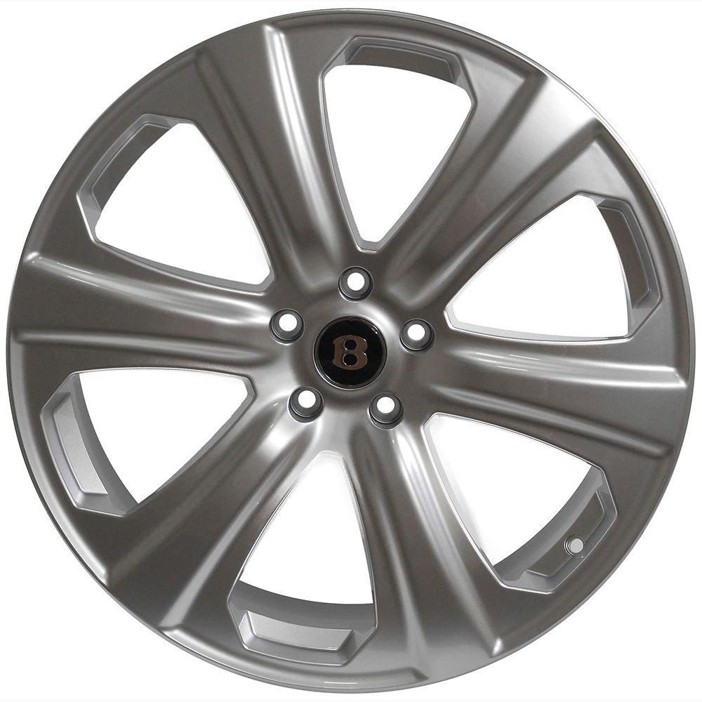 Jogo com 4 rodas Presenza PJ-28 Bentley Sport V12 aro 20 furacão 5X114,3 acabamento hiper prata tala 8 ET38