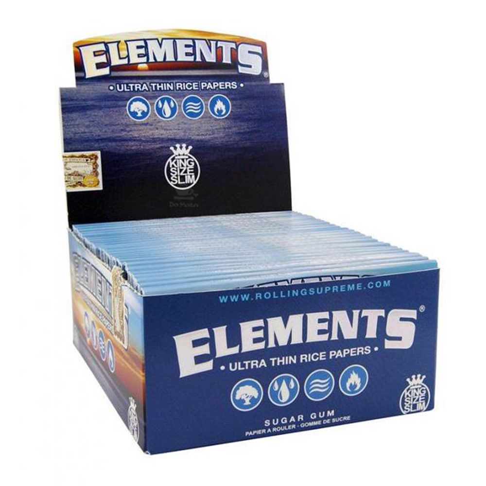Caixa de Seda Elements King Size Slim