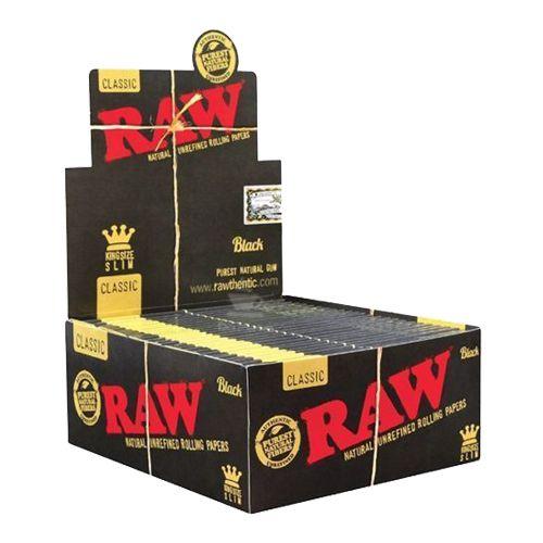 Caixa de Seda Raw Black King Size Slim