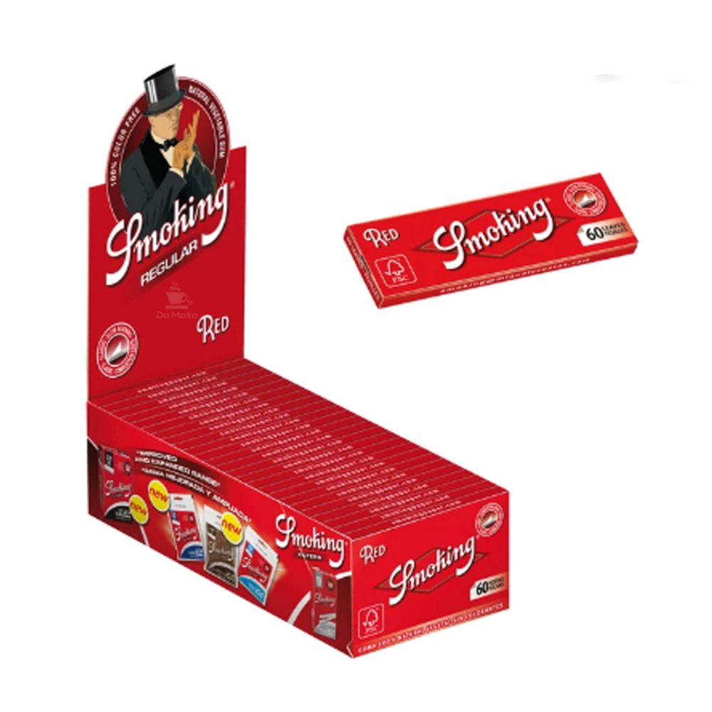 Caixa de Seda Smoking Red Regular