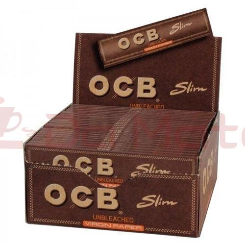 Caixa de Seda OCB Slim Unbleached
