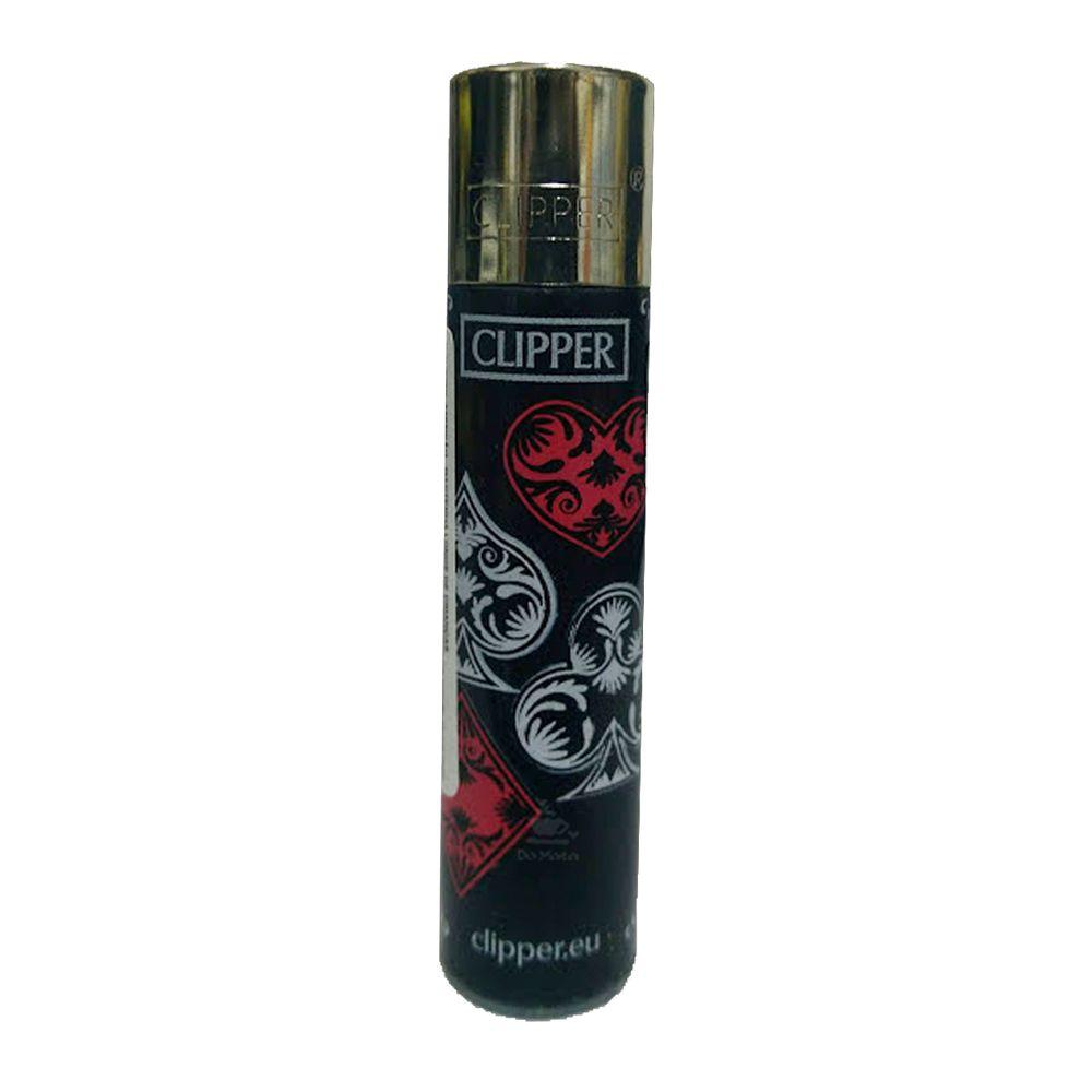 Isqueiro Clipper Naipes Preto