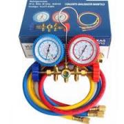 MANIFOLD GAS R22 R134 R404 R12 AR COND. E REFRIG. C/ MANGUEIRA 90 CM - ECOTOOLS