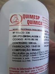 ALCOOL METILICO 500ML