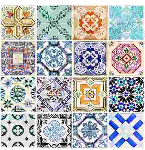 Papel Adesivo Contact De Parede Azulejos 45 Cm X 10 Mts
