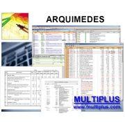 Software Arquimedes PRO versão 2019 incluindo Orçamento, Planejamento e Medição de Obras