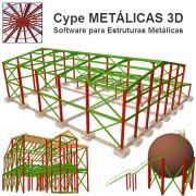 Software Metálicas 3D MT31 versão 2019 incluindo Núcleo Básico, Sapatas, Blocos sobre Estacas, Placas de Base, Resistência ao Fogo e Gerador de Pórticos