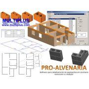 Software PRO-Alvenaria versão 16 incluindo Exportação em IFC