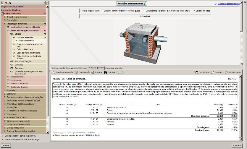 Módulos de PGRCC - Plano de Gestão de Resíduos para o Software ARQUIMEDES (desde de que o referido software esteja na versão 2019)
