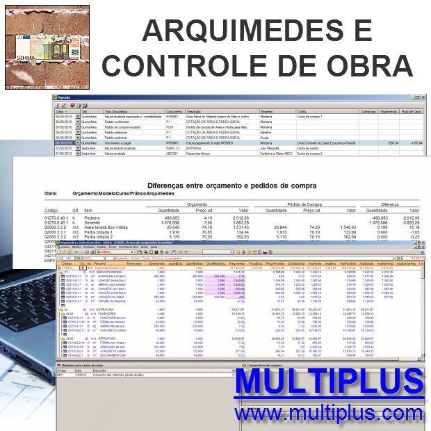Software Arquimedes OR12 versão 2019 incluindo Orçamento, Planejamento, Medição de Obras e Controle de Obras