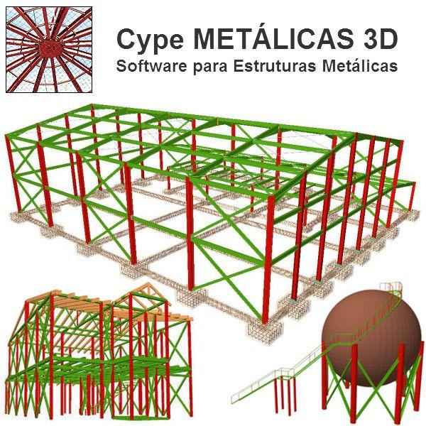 Software Metálicas 3D MT31 versão 2020 (Licença Eletrônica) incluindo Núcleo Básico, Sapatas, Blocos sobre Estacas, Placas de Base, Resistência ao Fogo e Gerador de Pórticos