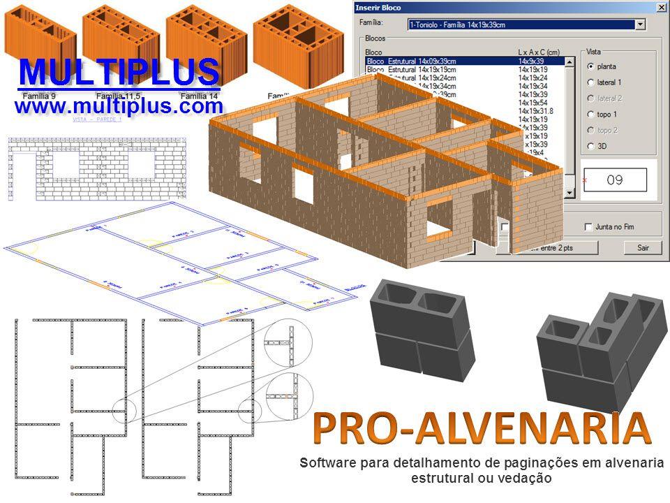 Software PRO-Alvenaria versão 17 incluindo Exportação em IFC