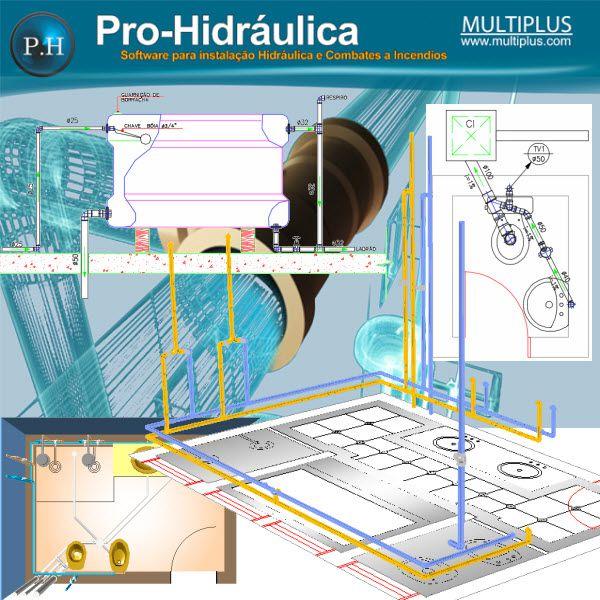 Software PRO-Hidraulica versão 17 incluindo Detalhamento, Dimensionamento e Incêndio