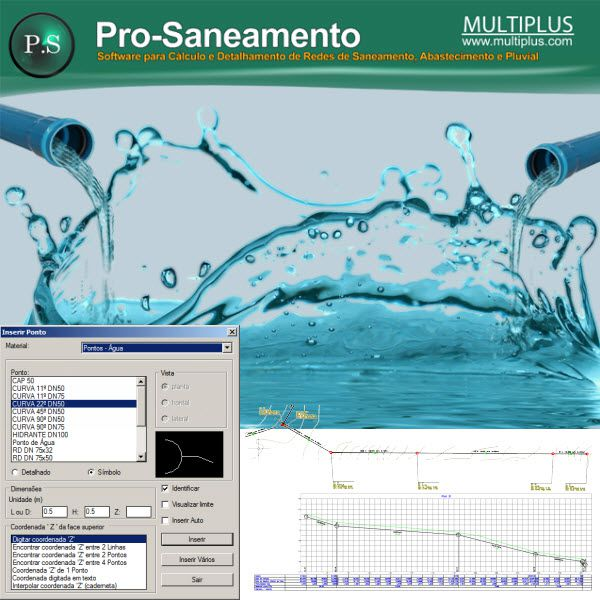 Software PRO-Saneamento versão 16 incluindo Exportação em IFC