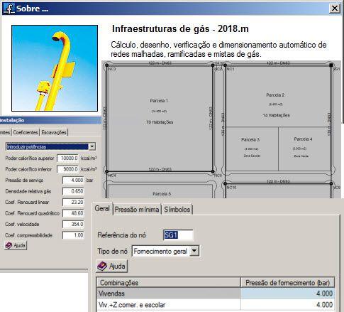 Software Redes Urbanas de Gás versão 2018