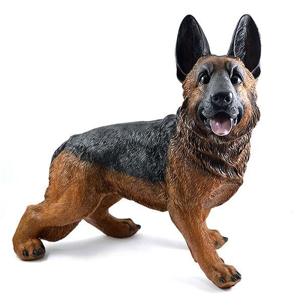 Excepcional Cachorro Pastor Alemão capa preta - Shop Everest- Casa e Decoração. HW08