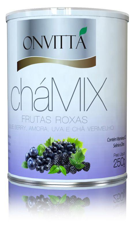 CháMix sabor Frutas Roxas