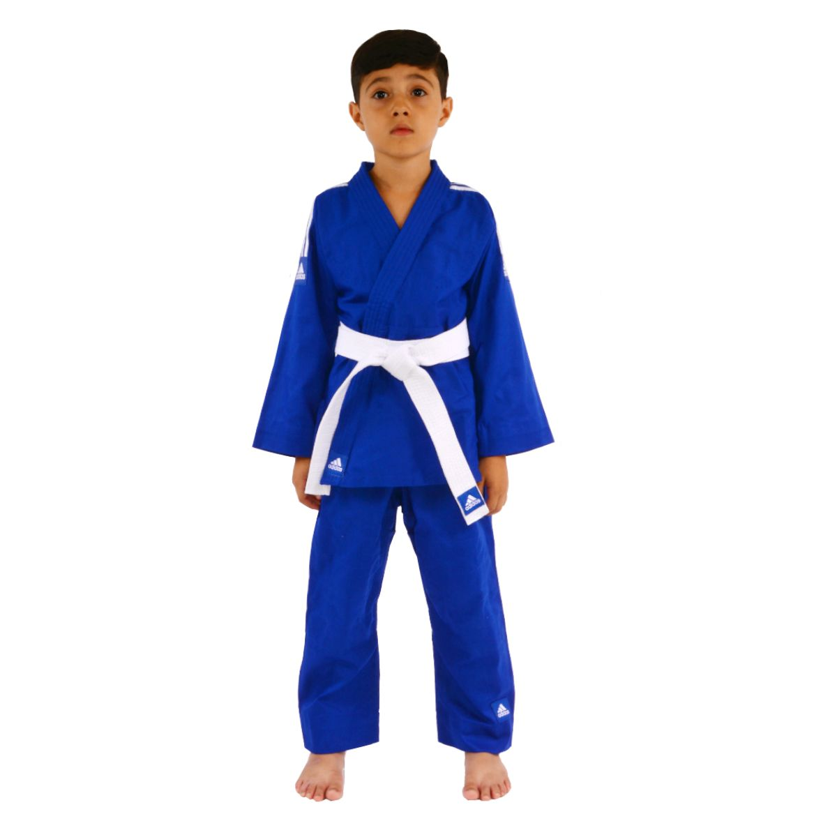 53f8e3e97e1 Kimono Judô Evolution Adidas Infantil Reforçado Azul - Made4fighters ...