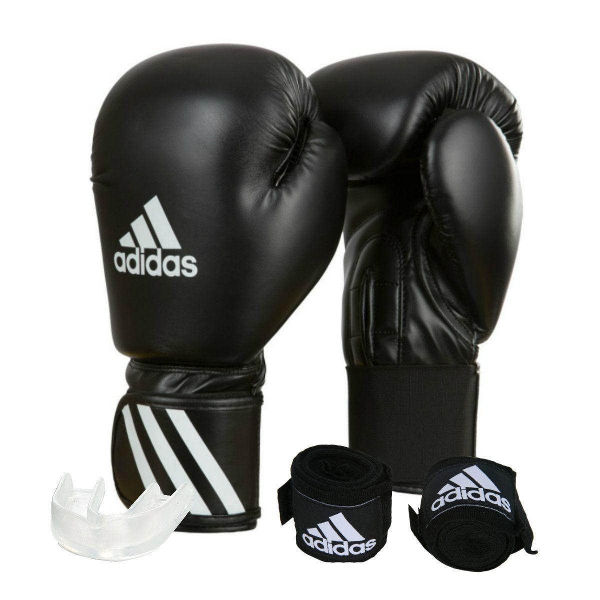 f738ea843 Kit Luva de Boxe Muay Thay Adidas Speed 50 + Bandagem 2