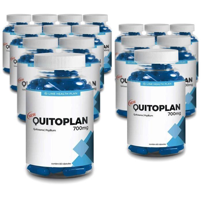 Quitoplan 700mg - 60 cápsulas - Compre 10 e Leve 15 potes