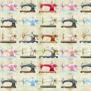 Tecido - Coleção Artesanal - Máquinas de Costura  (50x150cm)
