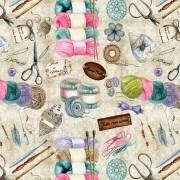 Tecido - Coleção Artesanal - Tricô/Crochê  (50x150cm)