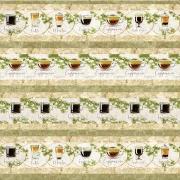 Tecido - Faixas Café  (50x150cm)