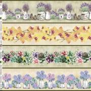 Tecido Faixas Floral II