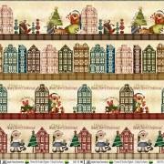 Tecido Faixas Natal