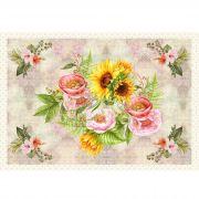 Tecido Painel Floral Arranjo
