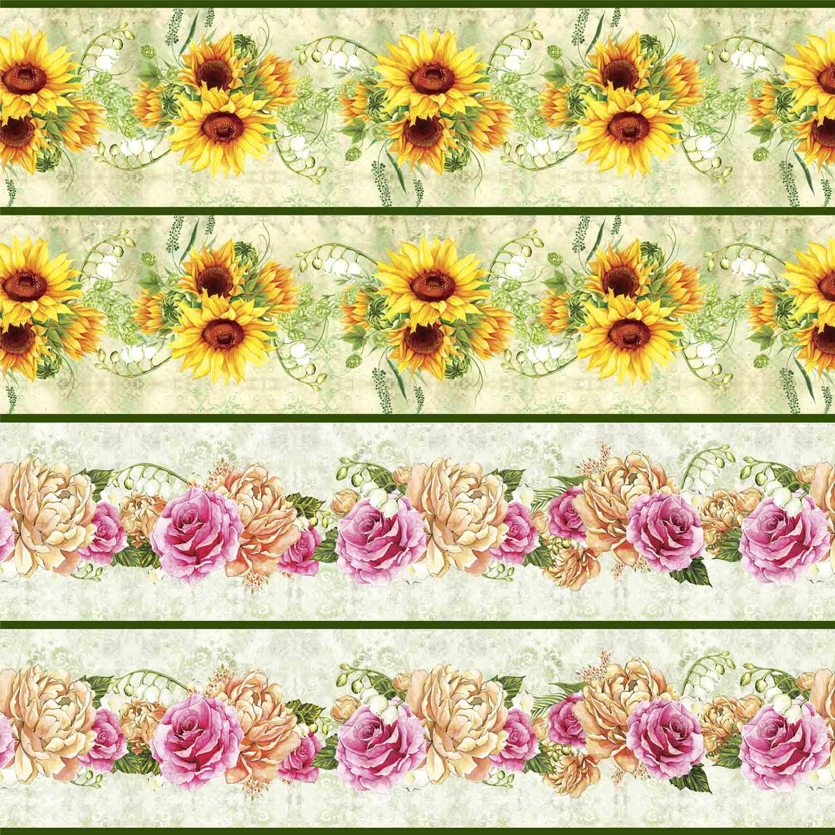 Faixa Floral III - Girassol