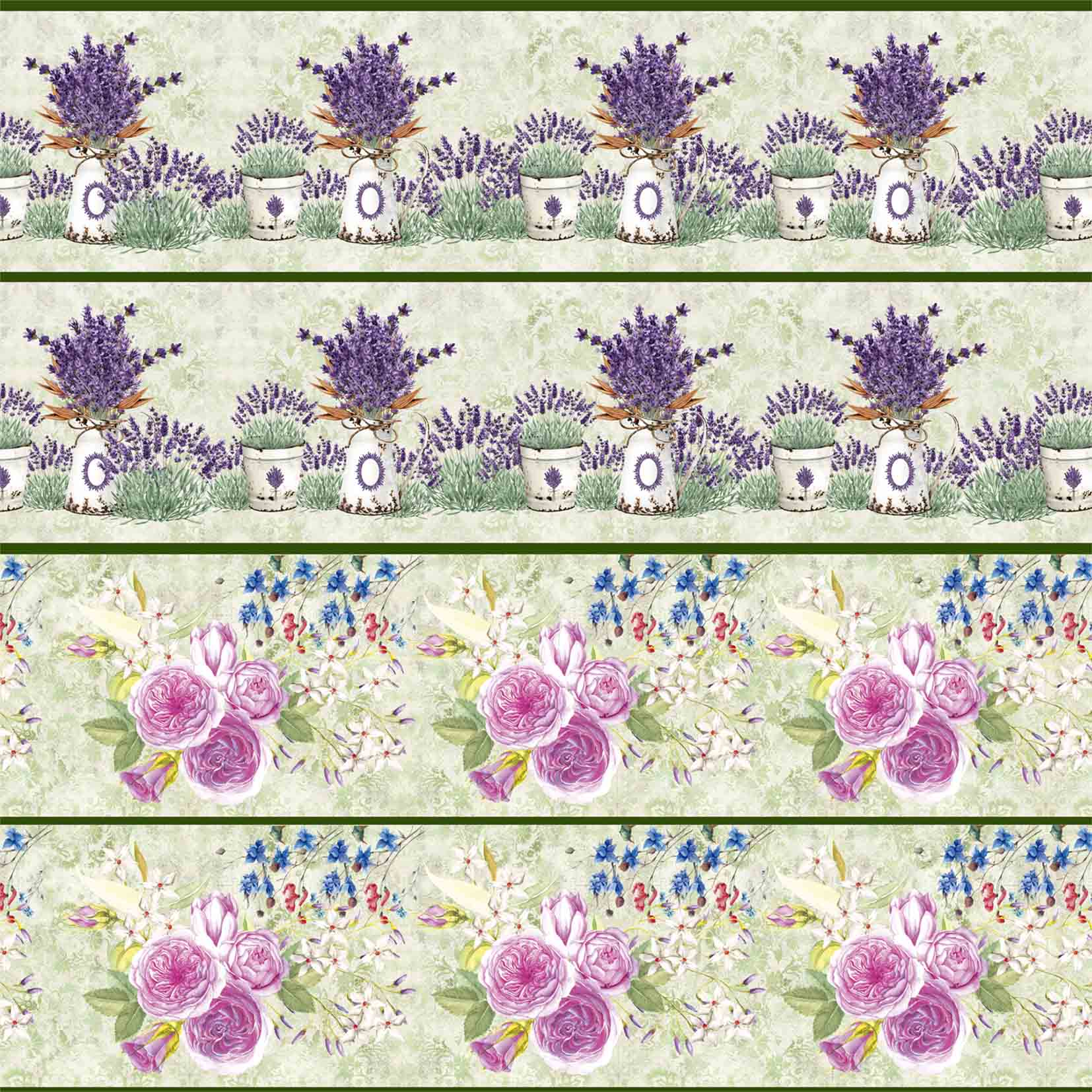 Faixa Floral III - Lavanda