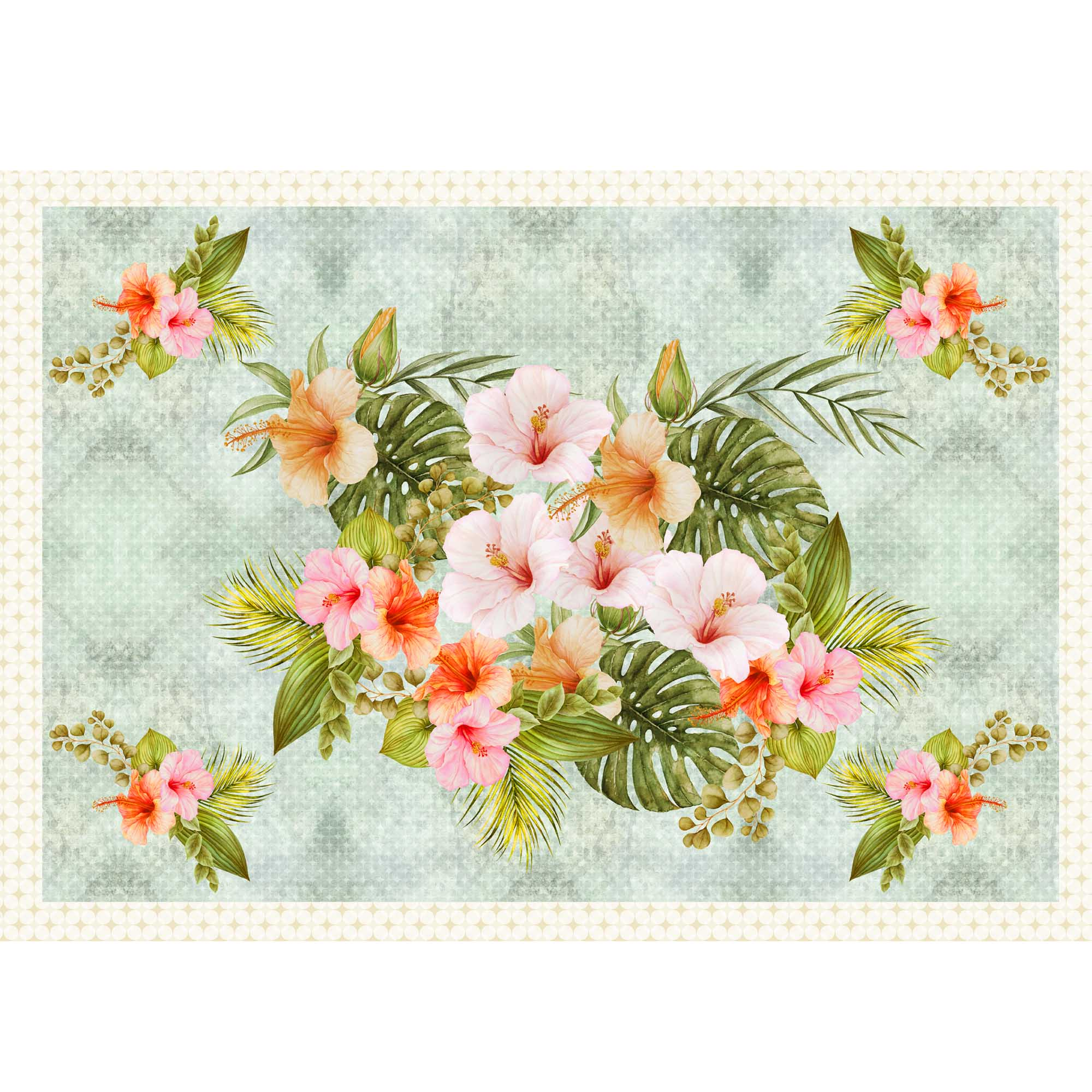 Painel Floral Hibisco