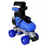 41aaf6ccd Patins Roller In-line azul com preto Menino Número Ajustável