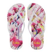 87ebe0988d Chinelo Coca-Cola Feminino Flower Move Branco CC2529