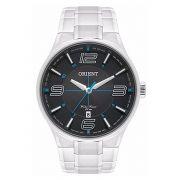 3e8a9d4dc58 Relógio Orient Masculino Prata Pulseira Aço Mostrador Preto Resistência 50M  Caixa 47mm Mbss1307