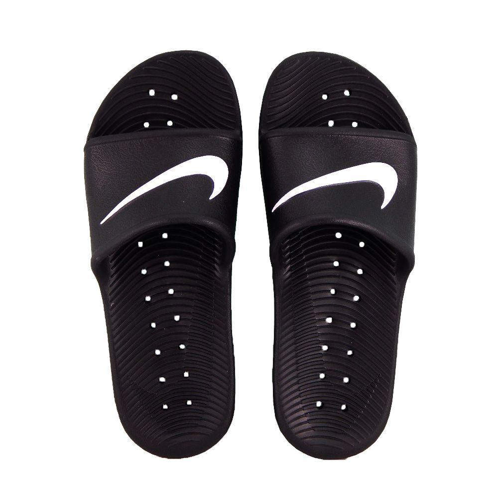 c77a29aad01e Chinelo Slide Nike Masculino Kawa Shower Preto Branco 832528