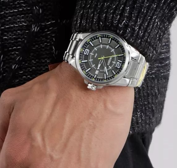 6412ff0ef08 ... Relógio Orient Masculino Prata Pulseira Aço Mostrador Cinza Resistência  50M Caixa 47mm Mbss1314 - ALLTENTICA ...