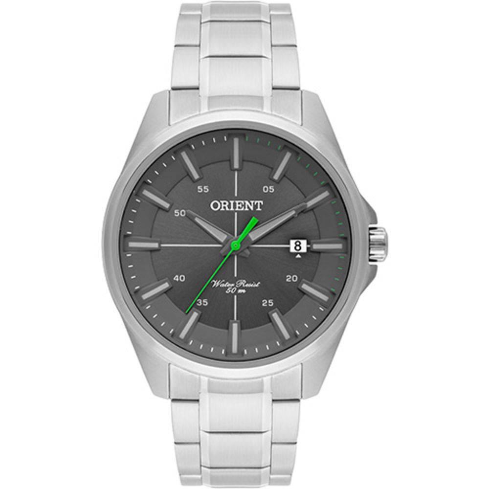 4b5fe6aca7a Relógio Orient Masculino Prata Pulseira Aço Mostrador Cinza Resistência 50M  Caixa 47mm Mbss1294 - ALLTENTICA ...