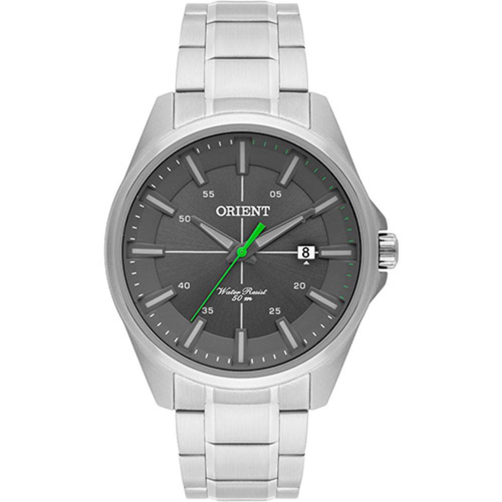 cfffeb70aaa Relógio Orient Masculino Prata Pulseira Aço Mostrador Cinza Resistência 50M  Caixa 47mm Mbss1294 - ALLTENTICA ...
