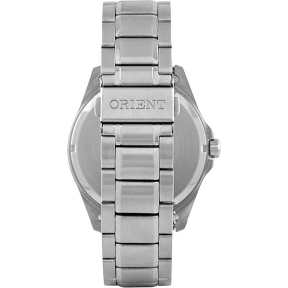 c7f1387bf08 ... Relógio Orient Masculino Prata Pulseira Aço Mostrador Cinza Resistência  50M Caixa 47mm Mbss1294 - ALLTENTICA ...