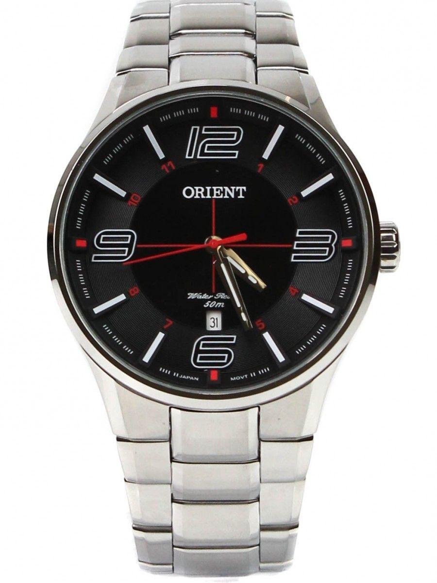 222dccf9607 Relógio Orient Masculino Prata Pulseira Aço Mostrador Preto Resistência 50M  Caixa 47mm Mbss1306 - ALLTENTICA ...