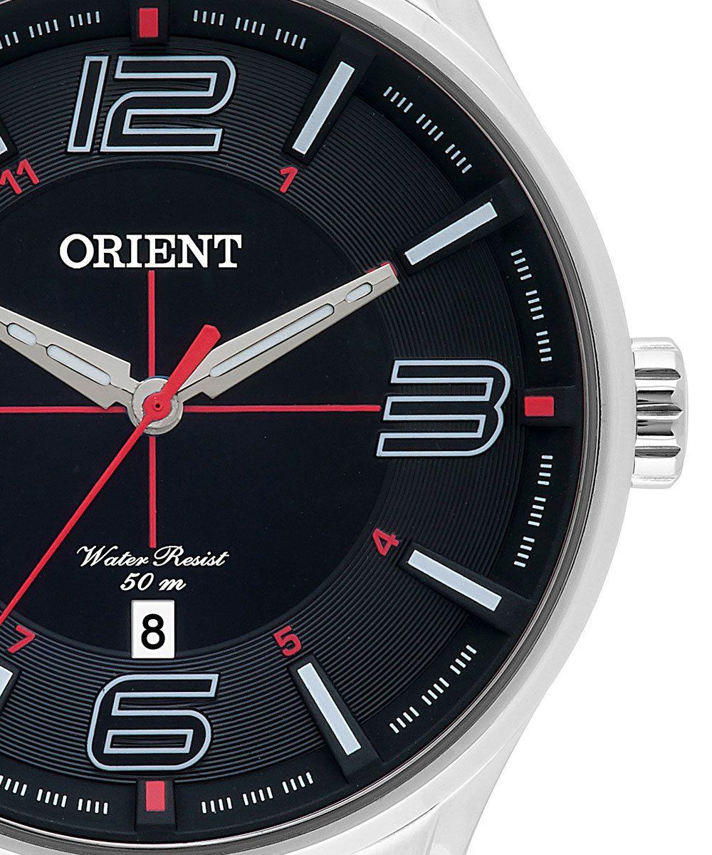 29e20ee4153 ... Relógio Orient Masculino Prata Pulseira Aço Mostrador Preto Resistência  50M Caixa 47mm Mbss1306 - ALLTENTICA ...