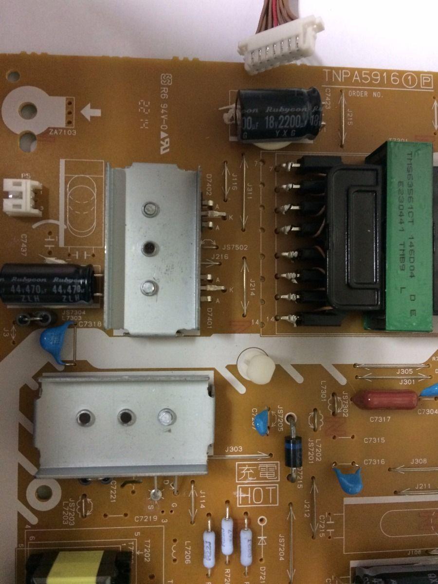 Placa Fonte Panasonic Tc-l42as610  - Usado