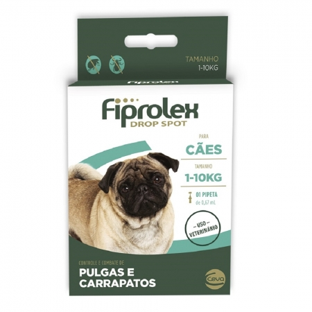 FIPROLEX DROP SPOT CAES 01 A 10 KG 0,67 ML