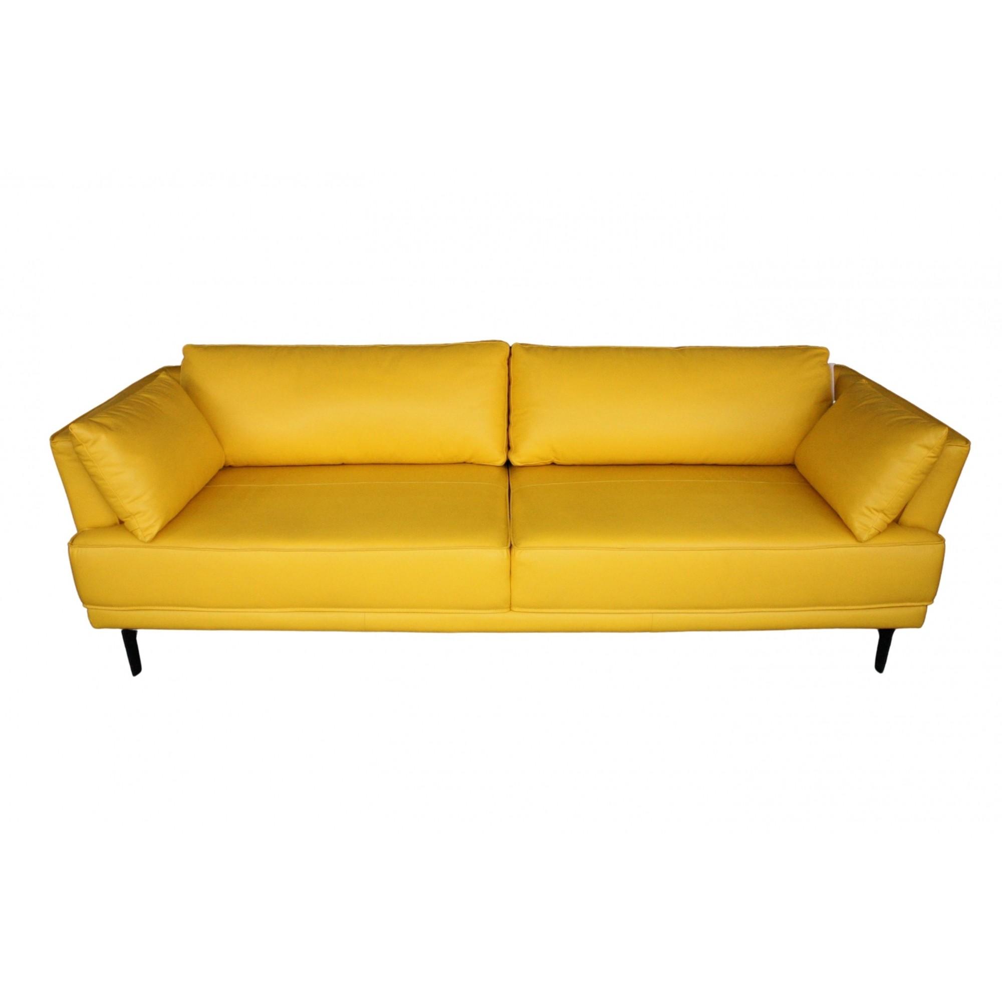 Sofá Venturi em Couro 246cm (Amarelo)