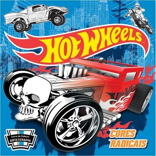 Hot Wheels: Cores Radicais - Livro de Colorir Antiestresse