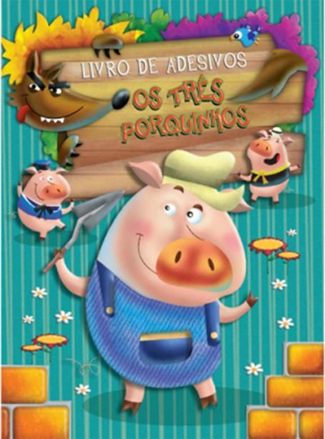 Três Porquinhos, Os - Coleção Livro de Adesivos