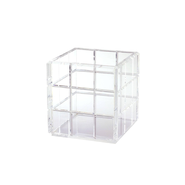 Caixa multiuso bisotada média - Cristal
