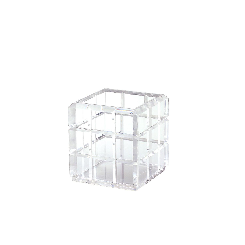Caixa multiuso bisotada pequena - Cristal